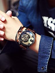 Мужской Наручные часы Кварцевый Календарь Кожа Группа бренд-