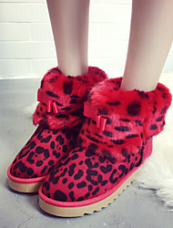 Zapatos de mujer - Tacón Plano - Botas de Nieve - Botas - Exterior / Casual - Semicuero - Marrón / Amarillo / Rojo
