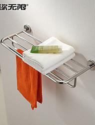"""Prateleira de Banheiro Aço Inoxidável De Parede 600x220x120mm (23.6x8.66 x4.72"""") Aço Inoxidável Contemporâneo"""