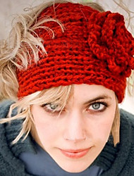 Women's Fashion Knitting Warm Flower Hoop Hat