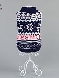 Katzen / Hunde Pullover Blau Hundekleidung Winter Schneeflocke Lässig/Alltäglich