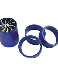 Fahrzeuge Auto Doppelturbine Turbolader Lufteinlass Gas-Kraftstoff-Retter-Ventilator blau