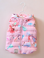 Girl's Cotton Spring Winter  Fashion Thicken Printing Cotton  Vest