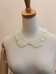 Necklace Collar Necklaces / Pearl Necklace Jewelry Wedding / Party / Daily / Casual Pearl / Imitation Pearl / Silver Plated White 1pc Gift