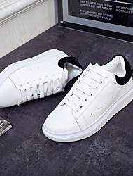 Women's Shoes Glitter Wedge Heel Comfort / Round Toe Fashion Sneakers Outdoor / Casual White