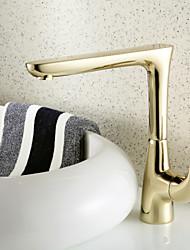 Diffusion large Mitigeur un trou in Ti-PVD Robinet lavabo