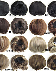 1pc / lot 80g / pc dei capelli kanekalon panino treccia crocchia di capelli di buona qualità pad panino kanekalon ombre intrecciare i