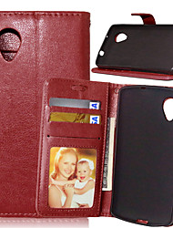 Luxury PU Leather Card Holder Wallet Stand Flip Cover With Photo Frame Case For LG Nexus 5/E980 (Assorted Colors)