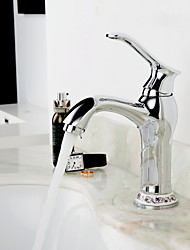 One Hole Single Handle Bathroom Sink Faucet