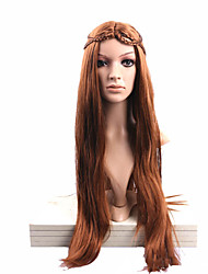 Cartoon  Style Wig Extensions Brown Long  Straight  Syntheic   Wig