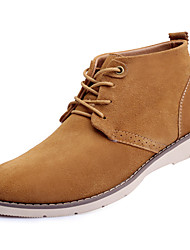 Plus Cotton Winter Warm Men's Shoes Outdoor / Office & Career / Casual Suede Boots Blue / Yellow / Beige