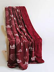 Flanelle Marron,Imprimé Toile Coton / Polyester couvertures 140cm*200cm