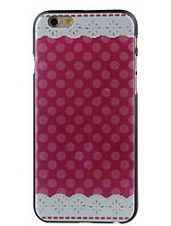 rouge tissu de haute qualité et un bon disque cas de motif de prix pour iphone 6 / 6s