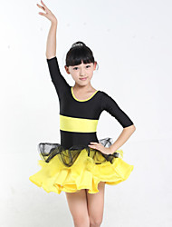 Girl's Fashion Uniforms Ballroom Dancing Costumes Children's Stage Performance Clothing