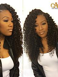 250% Density Glueless Full Lace Human Hair Wigs For Black Women Brazilian Deep Kinky Curly Lace Front Human Hair Wigs