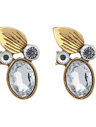 Retro Fashion Crystal Sapphire-jewelry Oval Earrings