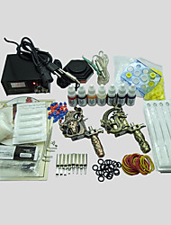 BaseKey Tattoo Kit 219 2 Machines With Power Supply Grips Cups Needles(Ink not included)