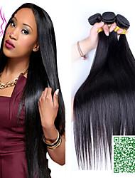 """cheveux vierges malaisienne droite 100g non transformés malaisien cheveux raides 3 bundle / lot chaud cheveux humains / pc 10 """"-24"""""""