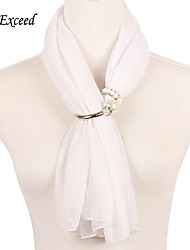 D Exceed White Color Elegant Ladies Scarves Solid Color New Design Wraps and Shawls Brand Fashion Cheap Accessories