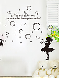 9206 The hubble-bubble Wall Stickers Kiss Goodnight For Living Room for Kid DIY Home Decorations Wall Decals