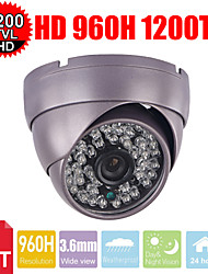 cctv 1200tvl sony hd cmos 3.6mm 48pcs IR LED pantser dome surveillance security camera