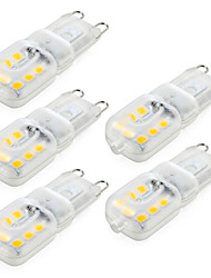 Ywxlight® 5 pz dimmable 4w g9 llevado luces bi-pin 14 smd 2835 300 lm blanco caliente / frío (ac220v / 110v)