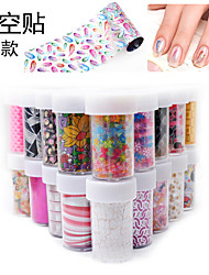 1Pcs Manicure Sstar Stickers Laser Thermal Transfer Metal Nail Decals 32 Optional Patterns