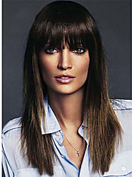Graceful Long Silky Straight Human Virgin Remy Hand Tied-Top Capless Hair Wigs