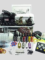 basekey Tattoo-Set 213 2 Maschinen mit Netzteil Griffe Tassen Nadeln (Tinte nicht im Lieferumfang enthalten)