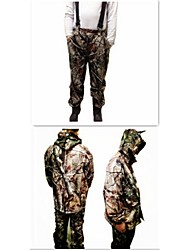 Ourdoor Camouflage Coat Suit Waterproof Fleece Jacket Parka Camo Suits Clothing for Hunting Fishing(Jacket + Trousers)