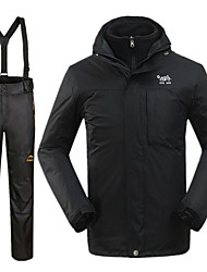 Outdoor Men's Clothing Sets/Suits / Winter Jacket Skiing Waterproof / Windproof / Thermal / Warm Winter Black S / M / L / XL / XXL