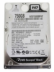 occidentale wd7500bpkt digitale SATA3 750g da 2,5 pollici per notebook hard disk piastra nera interna