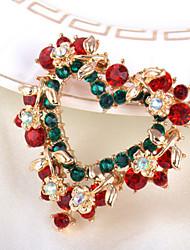 """Fashion Elegant """"Heart""""Full Rhinestone Alloy M's Brooch For Woman&Lady"""