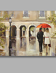 Good Quality Oil Painting Lovers Walk On Street