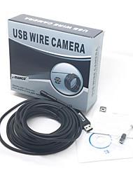 7m usb impermeável 2.0 CMOS cobra lente 7 milímetros 6 liderada pela câmera hd endoscópio