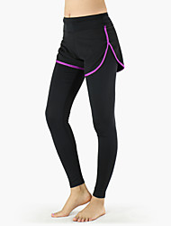 ARSUXEO Women's Absolute Workout Legging 2 in 1(Short and Tights) Female Sports Elastic Fitness Running Yoga Pants
