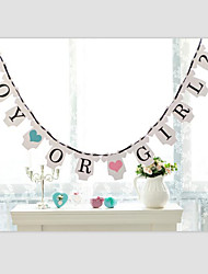 BOY OR GIRL? Baby Shower Gender Reveal Party Banner Signs with Ribbon