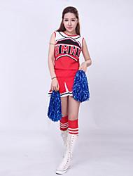 Completi - Per donna - Costumi da ragazza pon pon / Esibizione - Ricami - di Poliester - Blu / Rosso