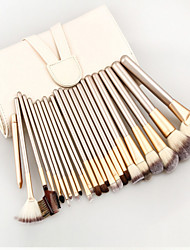 24 Conjuntos de pincel Pêlo Sintético Profissional / Viagem / Cobertura Total / Ecológico / Portátil Madeira Rosto / Olhos / Lábio Outros