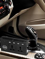 4200pc 200W DC 12V zu Wechselstrom 110V Auto Smart-Power-Inverter w / 4-usb + Dual-ac-Buchsen - schwarz