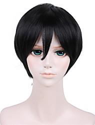 12 pulgadas zhangqiling pelucas negro de anime cosplay qy-076