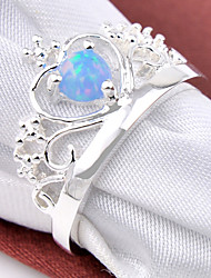 Statement Rings Gemstone Silver Plated Geometric Birthstones Jewelry Wedding Party Daily Casual Sports 1pc