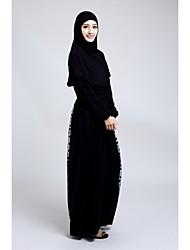 Formal Evening Dress - Black A-line Jewel Ankle-length Organza / Stretch Satin