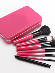 7 Rose Iron Boxed Makeup Brush Set