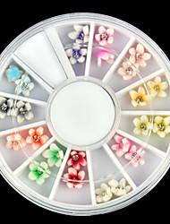1pcs  Nail 3D Clay Flower Appliqué DIY Tool Box