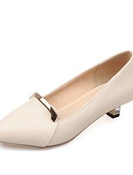Women's Shoes Kitten Heel Heels / Pointed Toe Heels Dress Blue / Pink / Purple / White / Beige