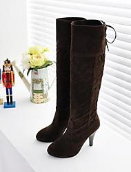 Women's Winter Snow Boots Leatherette Outdoor Casual Low Heel Black Brown Red Beige
