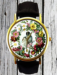Vintage Love Birds Watch,Floral Watch,Flower Watch,Ladies Watch,Mens Watch,Womens Watch,Gift Idea,Custom Made Watch