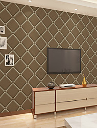New Rainbow™Geometric Wallpaper Contemporary Wall Covering , Non-woven Paper Simple Damascus Wallpaper