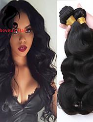 4bundles color natural de la onda del cuerpo del pelo indio 8-26inch cabello humano virginal teje